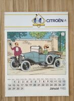Calendrier publicitaire Citroën Tintin 1985 complet calendar