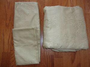 Charter Club Gold Medallion Scroll 100% Egyptian Cotton Queen Duvet Cover Set