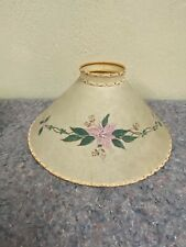 Vintage Lamp Shade With Painted Flowers