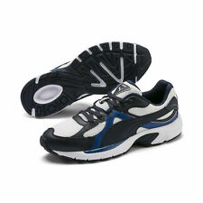 Puma Axis Plus 90s White/ Peacoat / Galaxy Blue Running Shoes Trainers UK 6 - 12