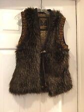 Guess Faux Fur Brown Vest  J12