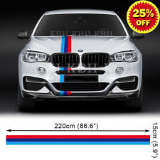 M Performance 3 Colors Hood Stripe Vinyl Decal Sticker for BMW X5 X6 F15 F16 SUV