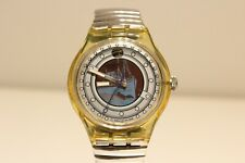 """VINTAGE RARE BEAUTIFUL MEN'S AUTOMATIC WATCH """"SWATCH"""" WITH SHIP (MAYBE TITANIC)"""