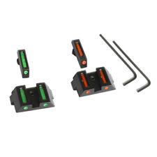 Mini Glock Fiber Optic Front Sight Rear Combat Red/Green Dot Fiber Free Shipping