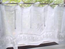 Scheibengardine MARIELLA CLASSIC Leinen Bistro 140x45 oder 160x45 Weiß Shabby