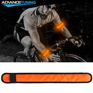 LED Slap Armband Lights Glow Band for Safe Night Running Cycling 35cm Orange