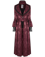 Punk Rave Womens Long Gothic Jacket Coat Dress Red Steampunk Victorian Regency