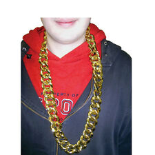 "36"" Thick Gold Chain Necklace Run DMC Hip Hop Rapper Pimp Rope Old School Bling"
