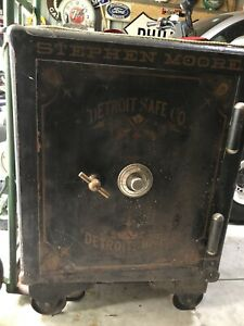 Antique Vintage Large Iron Floor Safe