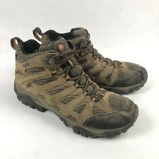 Merrell Moab Mid Mens 11 Brown Leather Mid Hiking Trail Boots