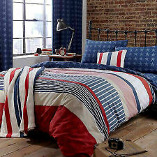 Catherine Lansfield Stars and Stripes Single Bed Quiltset