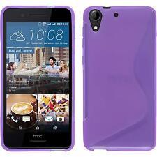 Silicone Case for HTC Desire 728 S-Style purple + protective foils