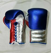 New Customized Shiny Leather Boxing Gloves Any Brand Logo or Name No Grant Twins