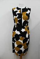 HOBBS Ladies Ivory Cotton Blend Sleeveless Vent Shift Tabitha Dress UK12 NEW