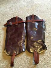 UGG  Brown Leather Leg Warmers