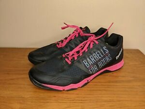 Men's Reebok Crossfit Nano Shoes Sz 10 Barbells For Boobs Breast Cancer Support