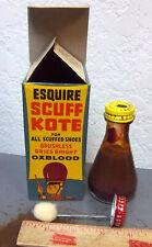 vintage Esquire Scuff Kote OXBLOOD, new unused bottle, original box, circus art