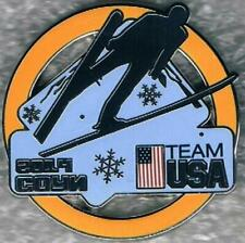 2014 Sochi Yellow Ring USA Olympic Ski Jumping Team NOC Sports Pin
