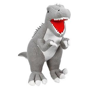 Plush Knitted Tyrannosaurus T-Rex Cuddly Dinosaur Stuffed Toy Kids Present Gift