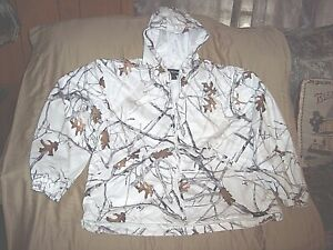 Mens Large Snow Camo Jacket True Timber Camo Hunting Jacket Non Insulated Lined