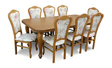 Classic Designer Dining Room Set Wood Table +8 Chairs Chair Set New
