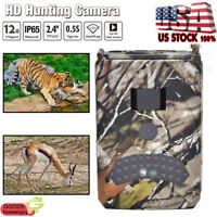 HD 1080P Hunting Camera Trail Scouting Wildlife Night Vision Infrared Waterproof