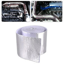 "2""x16.5ft High Temperature Heat Shield Pipe Wrap Tape Silver Cover For Car Boats"