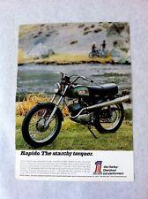 Vintage 1971 Harley Davidson Rapido 125cc  Motorcycle Original Print Ad