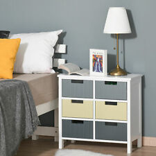 Chest of Drawers Storage Side Cabinet w/ 6 Detachable Drawers Home Furniture