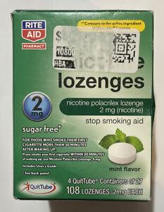 Rite Aid Nicotine Lozenges 2mg, 108 Mint Lozenges, Exp. 9/2021