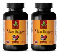 Immune support formula - BLOOD PRESSURE CONTROL - garlic pills - 2 Bottles