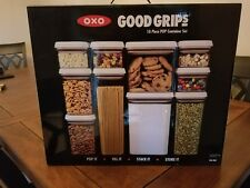 OXO Good Grips 10 Piece Food Storage POP Container Set BPA Free NEW