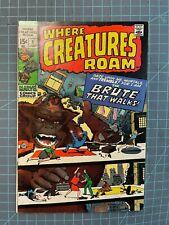 MARVEL WHERE CREATURES ROAM #1 KIRBY MONSTER COVER 1970
