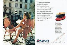 Publicité Advertising 127  1995   Damart  (2p) ballerines  vente catalogue
