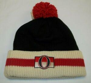 NHL Ottawa Senators Cuff/Pom Knit CCM Hat - Adult One Size - New