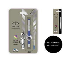 Parker Vector Mettalix CT Roller Ball Pen (Blue) Free Swiss Knife + Black Refill