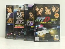 Initial D Stage 5 & 6 + New Movie Legend 1 & 2 Japan Anime DVD 4 Box Set Eng Sub