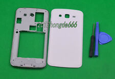 White Housing Middle Frame +Battery Cover For Samsung Galaxy Grand 2 G7105 G7106