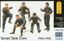 Masterbox 1:35 scale WWII Soviet Russian Tank crew 1943-1945 figures