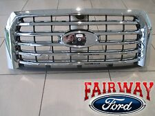15 thru 17 F-150 OEM Genuine Ford Parts Chrome 5-Bar Grille Grill w/o Camera NEW