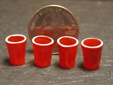 Dollhouse Miniature Red Plastic Cups Set 1:12 one inch scale F52A Dollys Gallery