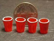 Dollhouse Miniature Red Plastic Cups Set 1:12 one inch scale A10 Dollys Gallery