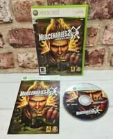 Xbox 360 - Mercenaries 2: World in Flames -PAL - With Manual Game - Free P&P