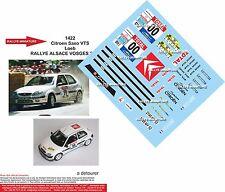 DÉCALS 1/43 réf 1422 Citroen Saxo VTS  Loeb  RALLYE ALSACE VOSGES 2002 N 00
