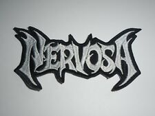 NERVOSA THRASH METAL EMBROIDERED PATCH