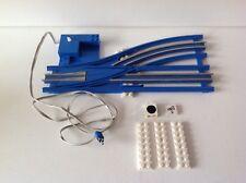 Lego 12V,Eisenbahn,753,754,Schiene,Weiche,links,Kabel,blau,alt,elektrisch