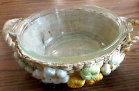 Vintage PYREX #022-622-B Clear Glass 1 Quart Casserole Bowl With Basket, USA!