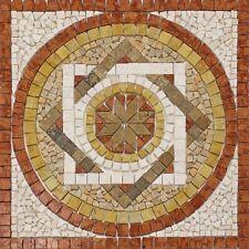 Rosoni rosone mosaico in marmo su rete per interni esterni 66x66 FANTASI ROSSO