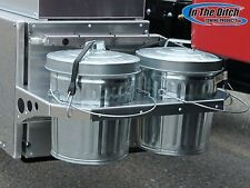 Dual Trash Mount with Two  4 Gallon Trash Cans Wrecker, Tow Truck, Rollback