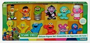 Sesame Street Deluxe Figure Set 11 Figures New